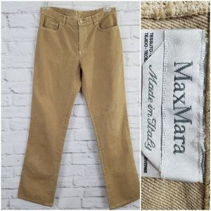 MaxMara Italy Jeans Carmel Brown Pockets Cotton 10